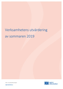Verksamhetens utvärdering av sommaren 2019