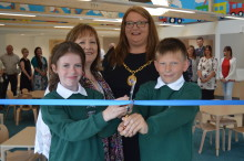Pupils cut ribbon at Milne's Primary as £2million extension is completed