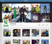 Bilder ur Umeå Energis verklighet via nya kanalen Instagram