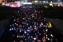 7.000 Gäste beim 8. Glühwürmchenumzug - Bärenherz war mit dabei
