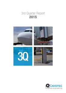 Cavotec SA — 3Q15 Report