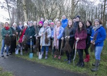 Council staff share the love at Valentine's Day tree planting