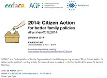 2014: Citizen Action for better family policies #FamiliesVOTE2014 debate