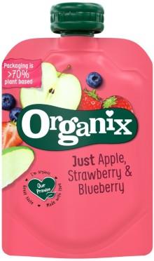 Organix lanserer klemmeposer med 70% plantebasert emballasje.