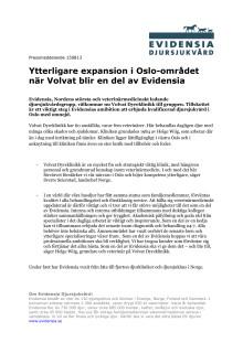 Ytterligare expansion i Oslo-området när Volvat blir en del av Evidensia