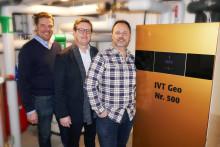 Stort intresse för IVT Geo – 500:e pumpen levererades i december
