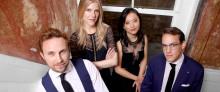Brittiska Doric String Quartet turnérar i södra Sverige