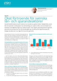 Ökat förtroende för svenska lån- och sparandeaktörer