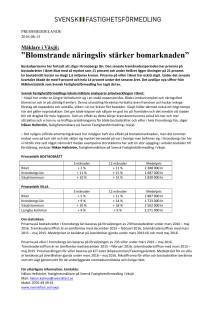 """Mäklare i Växjö: """"Blomstrande näringsliv stärker bomarknaden"""""""