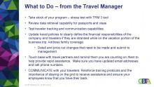 Information och tips från Global Business Travel Association  ( GBTA) kring inreseförbudet.