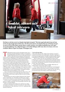 Artikel om Jetpak i senaste numret av Trafikmagasinet