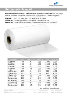 Krympplast - Boat Wrapping-sortimentet