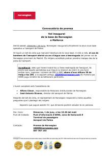 Descarrega convocatòria: aeroport de Palma (dimecres 1 de juny, 10.20 del matí).