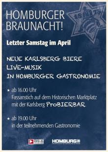Karlsberg Brauerei feiert vierte Homburger Braunacht