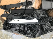 Six knives and loaded firearm recovered after search warrant in Stockwell