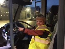 Bus mad Durham youngster goes behind the scenes at Go North East