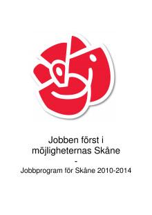 Jobbprogram för Skåne
