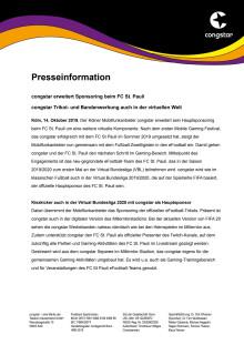 congstar erweitert Sponsoring beim FC St. Pauli
