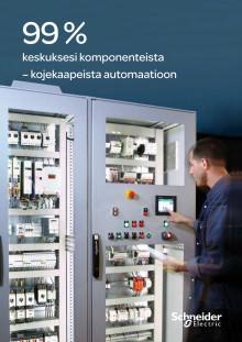 Tiesitkö että Schneider Electic voi toimittaa 99% keskuksesi valmistamiseen tarvittavista sähköisistä komponenteista?