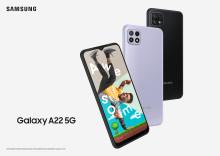 Samsung fortsätter expandera 5G-porfolion med lanseringen av Galaxy A22 5G
