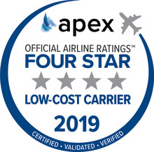 Norwegian Named Four-Star Low-Cost Airline by APEX