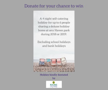 'Donate now for your chance to win a holiday - Team Tahola raising money for Bloodwise'
