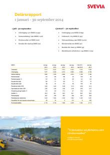 Svevia Delårsrapport januari - september 2014