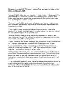 Victim impact statement - HMP Whitemoor trial