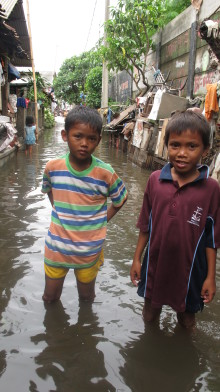 Children bear the brunt of the impact in Jakarta floods