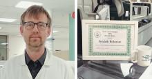 Fredrik är årets medarbetare inom klinisk kemi