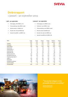 Svevia Delårsrapport januari - september 2015
