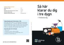 Information från Göteborg Stad:  Så här klarar du dig i tre dygn - Förbered dig