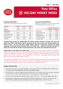 Post Office Holiday Money Index - April 2014