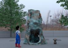 Lunds kommun har fått ett nytt offentligt konstverk: David Krantz, Stubben, 2018