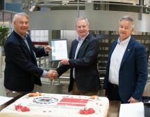 Første norske industribedrift med ISO 45001-sertifikat