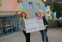 Santander spendet 3 500 Euro an das Kinderhospiz Regenbogenland