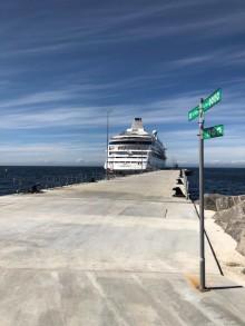 Krydstogtskibe lægger midlertidigt til kaj i Visby