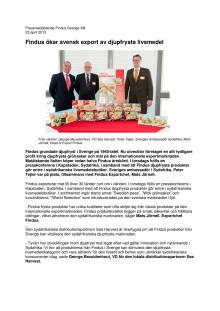 Findus ökar svensk export av djupfrysta livsmedel