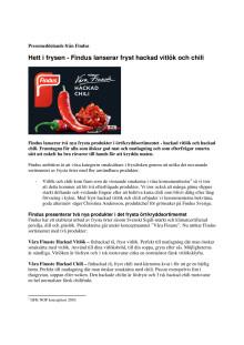 Hett i frysen - Findus lanserar fryst hackad vitlök och chili