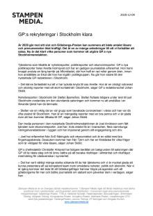 GP:s rekryteringar i Stockholm klara
