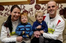 Parents running London Marathon three-legged for their son