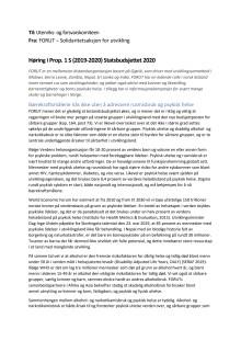 Høringsuttalelse statsbudsjettet FORUT 2019