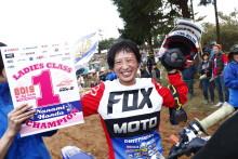 全日本モトクロス選手権 レディース 本田七海選手が年間4勝をマークして、自身初のチャンピオンを獲得