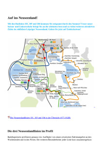 Die drei Neuseenlandlinien im Profil