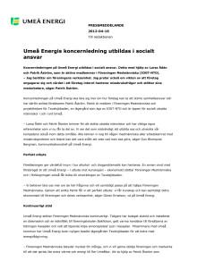 Umeå Energis koncernledning utbildas i socialt ansvar