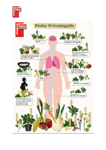 Findus dietist visar vägen bland vitaminer och mineraler - Få en piggare vår med Findus Grönsaksguide