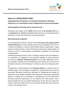 Beschreibung Aktions Angebot für November 2014