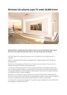 Nå koster LGs syltynne super-TV under 20.000 kroner