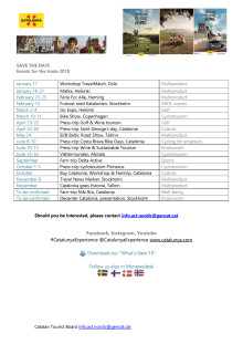 2018 Save the date - Catalonia - Updated version 3.4.18