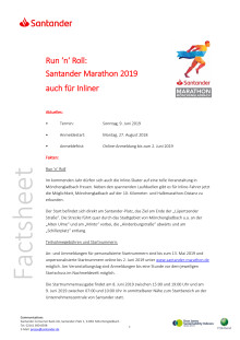 Factsheet 1 Santander Marathon 2019